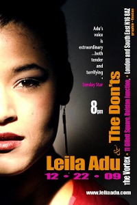LEILA ADU & THE DON'Ts @ the Vortex Flyer