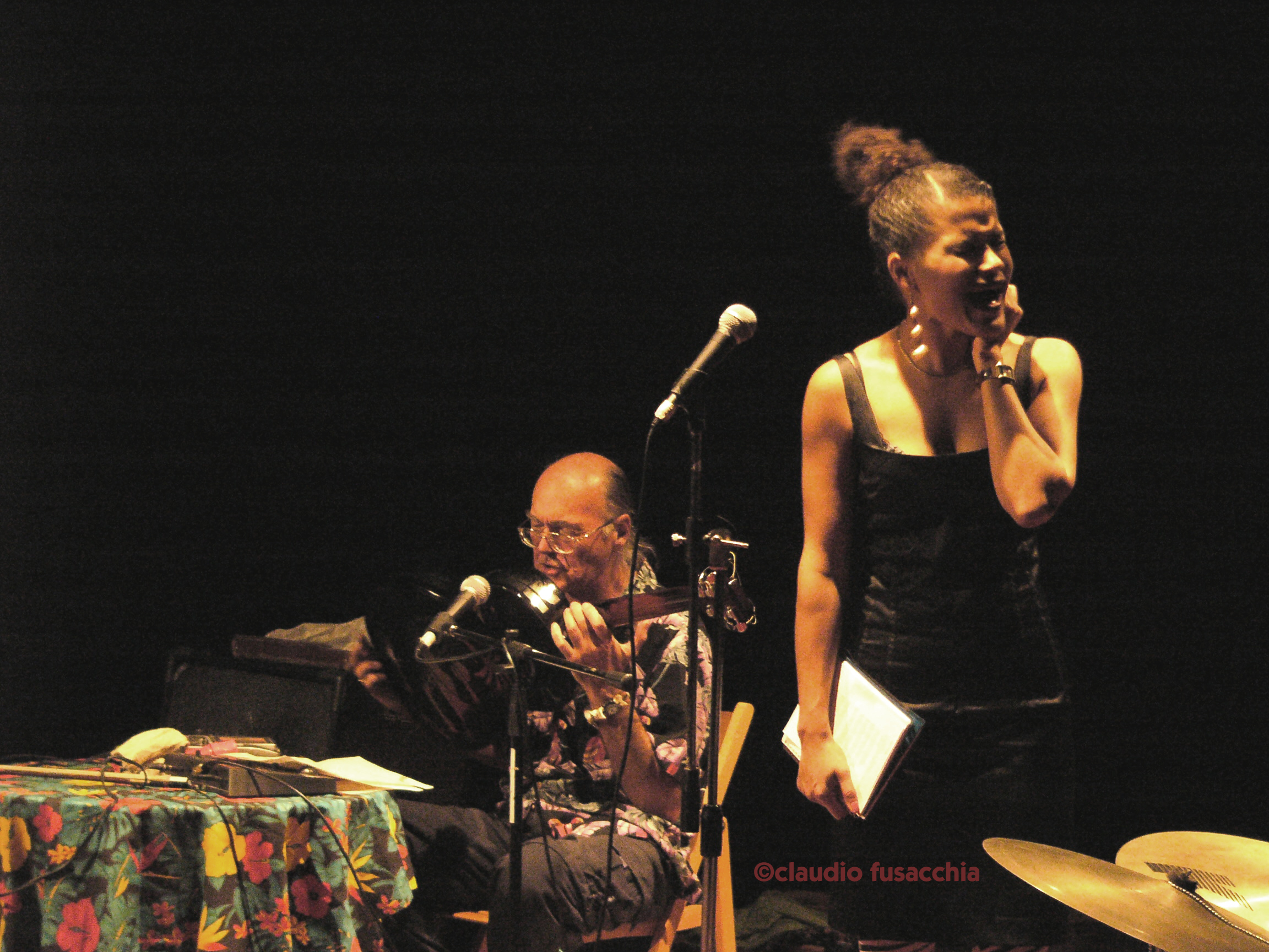 Concert at Il Cantiere, Roma (Mike Cooper & Leila Adu)